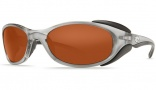 Costa Del Mar Frigate Sunglasses Silver Frame Sunglasses - Copper / 580P