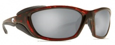 Costa Del Mar Mano War Sunglasses -  Tortoise Frame Sunglasses - Silver Mirror / 580G