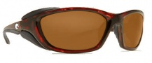 Costa Del Mar Mano War Sunglasses -  Tortoise Frame Sunglasses - Dark Amber / 400G