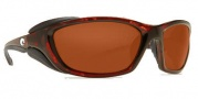Costa Del Mar Mano War Sunglasses -  Tortoise Frame Sunglasses - Copper / 580G