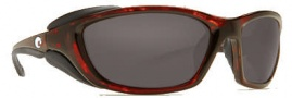 Costa Del Mar Mano War Sunglasses -  Tortoise Frame Sunglasses - Gray / 580G