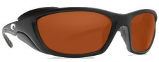 Costa Del Mar Man o War Sunglasses - Black Frame Sunglasses - Copper / 580P