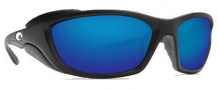 Costa Del Mar Man o War Sunglasses - Black Frame Sunglasses - Blue Mirror / 580G