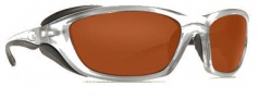 Costa Del Mar Man o War Sunglasses - Silver Frame Sunglasses - Copper / 580P