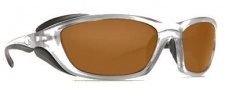 Costa Del Mar Man o War Sunglasses - Silver Frame Sunglasses - Dark Amber / 400G