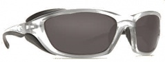Costa Del Mar Man o War Sunglasses - Silver Frame Sunglasses - Dark Gray / 400G