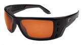 Costa Del Mar Permit Sunglasses Matte Black Frame Sunglasses - Sunrise Glass/COSTA 400