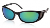 Costa Del Mar Pescador - Matte Black Frame Sunglasses - Green Mirror Glass/COSTA 580