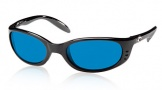 Costa Del Mar Stringer Sunglasses Shiny Black Frame Sunglasses - Vermillion Glass/COSTA 400
