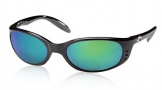 Costa Del Mar Stringer Sunglasses Shiny Black Frame Sunglasses - Gray Glass/COSTA 580