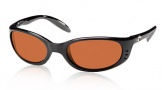Costa Del Mar Stringer Sunglasses Shiny Black Frame Sunglasses - Copper / 580P