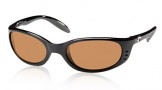 Costa Del Mar Stringer Sunglasses Shiny Black Frame Sunglasses - Amber Glass/COSTA 400