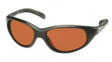 Costa Del Mar Wave Killer Sunglasses Matte Black Frame Sunglasses - Vermillion Glass/COSTA 400