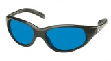 Costa Del Mar Wave Killer Sunglasses Matte Black Frame Sunglasses - Blue Mirror Glass/COSTA 400