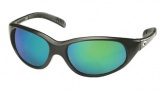 Costa Del Mar Wave Killer Sunglasses Matte Black Frame Sunglasses - Green Mirror Glass/COSTA 400