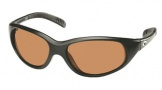 Costa Del Mar Wave Killer Sunglasses Matte Black Frame Sunglasses - Amber CR 39/COSTA 400
