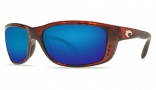 Costa Del Mar Zane Sunglasses - Shiny Tortoise Frame Sunglasses - Blue Mirror Glass/COSTA 400
