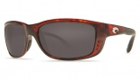 Costa Del Mar Zane Sunglasses - Shiny Tortoise Frame Sunglasses - Gray / 580P