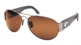 Costa Del Mar Cudjoe - Gunmetal Frame Sunglasses - Amber CR 39/COSTA 400