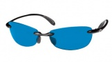 Costa Del Mar Filament Sunglasses - Shiny Black/Blue Mirror COSTA 400