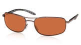 Costa Del Mar Seven Mile Sunglasses Satin Gunmetal Frame Sunglasses - Copper / 580P