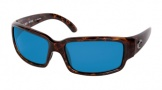 Costa Del Mar Caballito Sunglasses Shiny Tortoise Frame Sunglasses - Blue Mirror Glass/COSTA 400