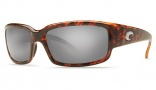 Costa Del Mar Caballito Sunglasses Shiny Tortoise Frame Sunglasses - Blue Mirror Glass/COSTA 580