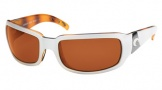Costa Del Mar Cin - White Tortoise Frame Sunglasses - Vermillion Glass/COSTA 400