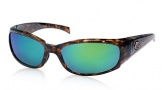 Costa Del Mar Hammerhead Sunglasses Shiny Tortoise Frame Sunglasses - Sunrise Glass/COSTA 400