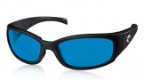 Costa Del Mar Hammerhead Sunglasses Shiny Black Sunglasses - Vermillion Glass/COSTA 400