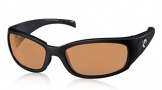 Costa Del Mar Hammerhead Sunglasses Shiny Black Sunglasses - Amber / 580P