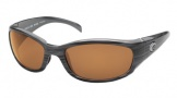 Costa Del Mar Hammerhead Sunglasses Silver Teak Frame Sunglasses - Amber / 580P