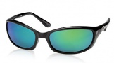 Costa Del Mar Harpoon Sunglasses Shiny Black Frame Sunglasses - Gray / 580G