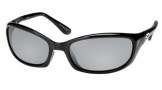 Costa Del Mar Harpoon Sunglasses Shiny Black Frame Sunglasses - Blue Mirror / 580G