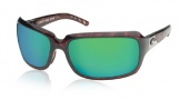 Costa Del Mar Isabela Sunglasses Shiny Tortoise Frame Sunglasses - Vermillion Glass/COSTA 400