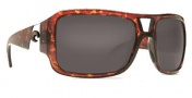Costa Del Mar Lago Sunglasses - Shiny Tortoise Frame Sunglasses - Dark Amber / 400G
