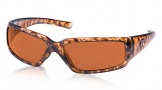 Costa Del Mar Rincon Sunglasses Shiny Tortoise Frame Sunglasses - Vermillion Glass/COSTA 400