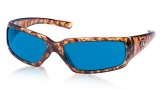 Costa Del Mar Rincon Sunglasses Shiny Tortoise Frame Sunglasses - Blue Mirror Glass/COSTA 400