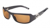 Costa Del Mar Santa Rosa Sunglasses Shiny Black Frame Sunglasses - Amber / 580P