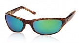 Costa Del Mar Triple Tail Sunglasses Shiny Tortoise Frame Sunglasses - Vermillion Glass/COSTA 400