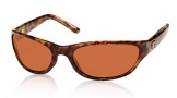 Costa Del Mar Triple Tail Sunglasses Shiny Tortoise Frame Sunglasses - Sunrise Glass/COSTA 400