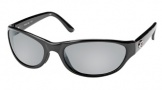 Costa Del Mar Triple Tail Sunglasses Shiny Black Frame Sunglasses - Gray Glass/COSTA 580