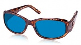 Costa Del Mar Vela Sunglasses Shiny Tortoise Frame Sunglasses - Amber Glass/COSTA 400
