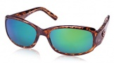 Costa Del Mar Vela Sunglasses Shiny Tortoise Frame Sunglasses - Copper Glass/COSTA 580