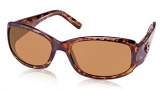 Costa Del Mar Vela Sunglasses Shiny Tortoise Frame Sunglasses - Amber / 580P