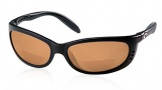 Costa Del Mar Fathom C-Mates Bifocals Sunglasses - Matte Black/Amber 2.50 Polarized Bifocal
