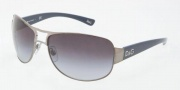 D&G DD 6056 Sunglasses - 348/73 Silver / Brown (Discontinued Color NLA)