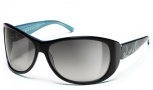 Smith Novella Sunglasses - Black Turquoise/Gray Gradient