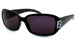 Fendi FS 350R Sunglasses Sunglasses - 001 Black / Gray 