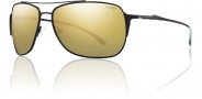 Smith Rosewood Sunglasses Sunglasses - Matte Black / Polarized Gold Mirror